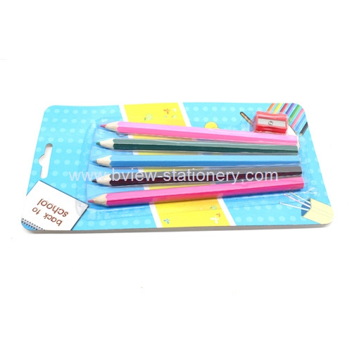 5pcs color pencil with a sharpener