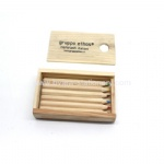 Wooden pencil with a wooden box